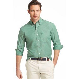 NWT Izod Striped Long Sleeve Button Down Shirt